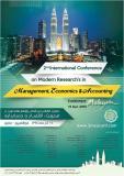 دومین کنفرانس بین المللی پژوهش های نوین در مدیریت، اقتصاد و حسابداری  - آذر 94 - مالزی