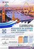 پنجمین کنفرانس بین المللی پژوهش در علوم و تکنولوژی ، لندن - آبان 95