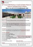 بیستوسومین گردهمایی فیزیک ماده چگال و مدرسه فازهای توپولوژیک ماده - اردیبهشت 96
