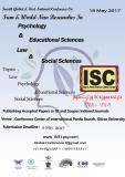 چهارمین کنفرانس جهانی روانشناسی و علوم تربیتی ، حقوق و علوم اجتماعی (نمایه شده در ISC ) - اردیبهشت 96